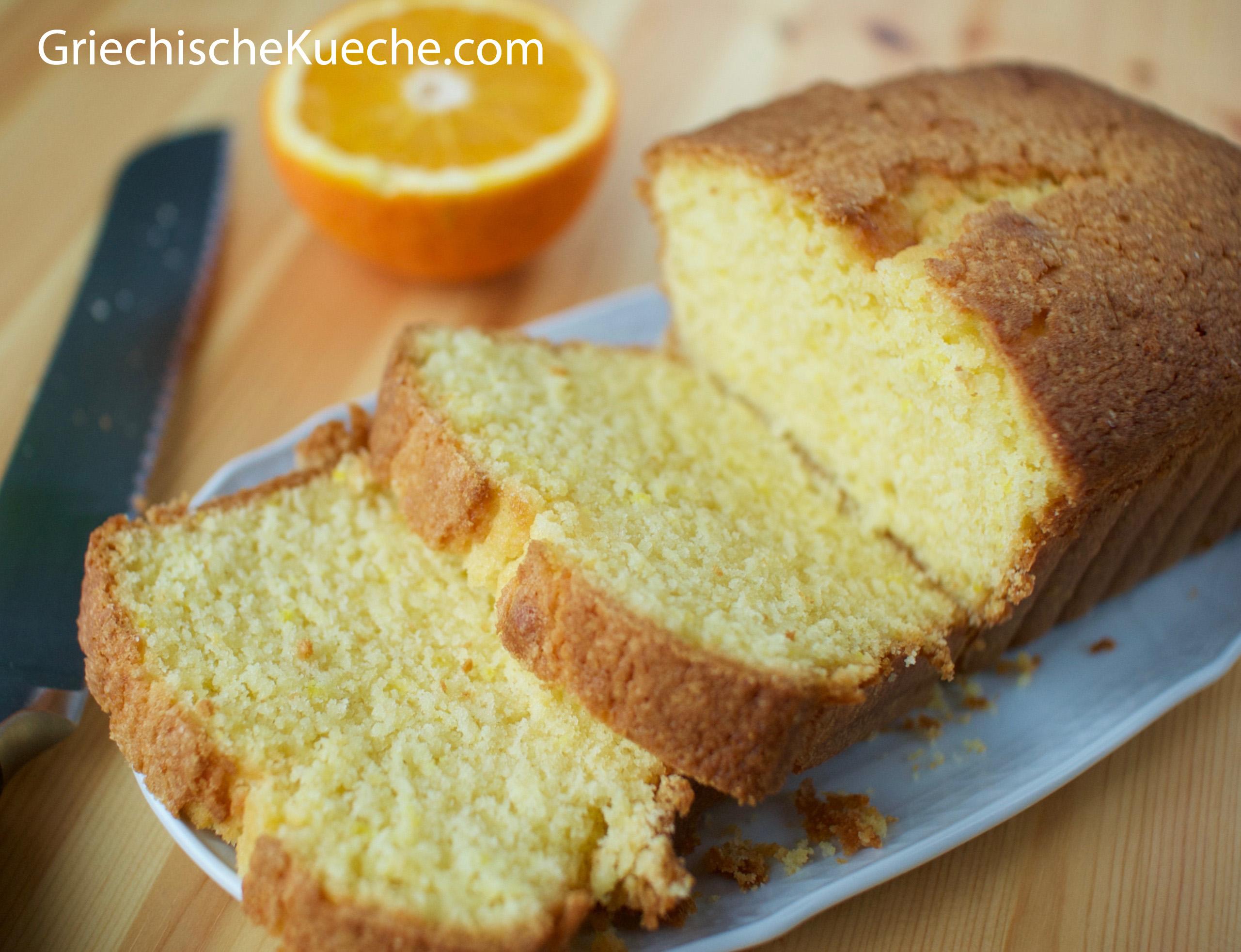 Kuchen mit ol und orangensaft